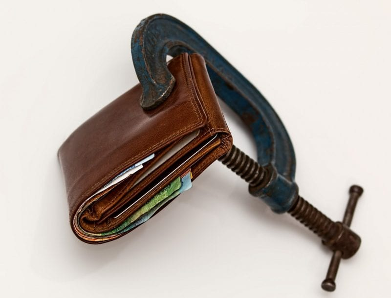 Financial difficulty, debt, credit squeeze