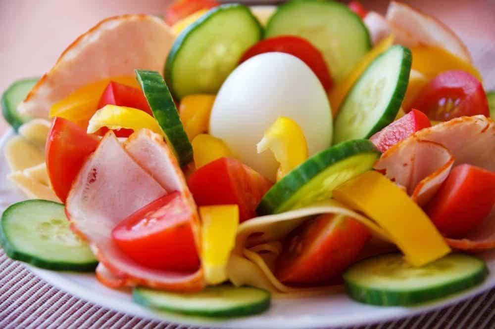 Food salad healhty vegetables