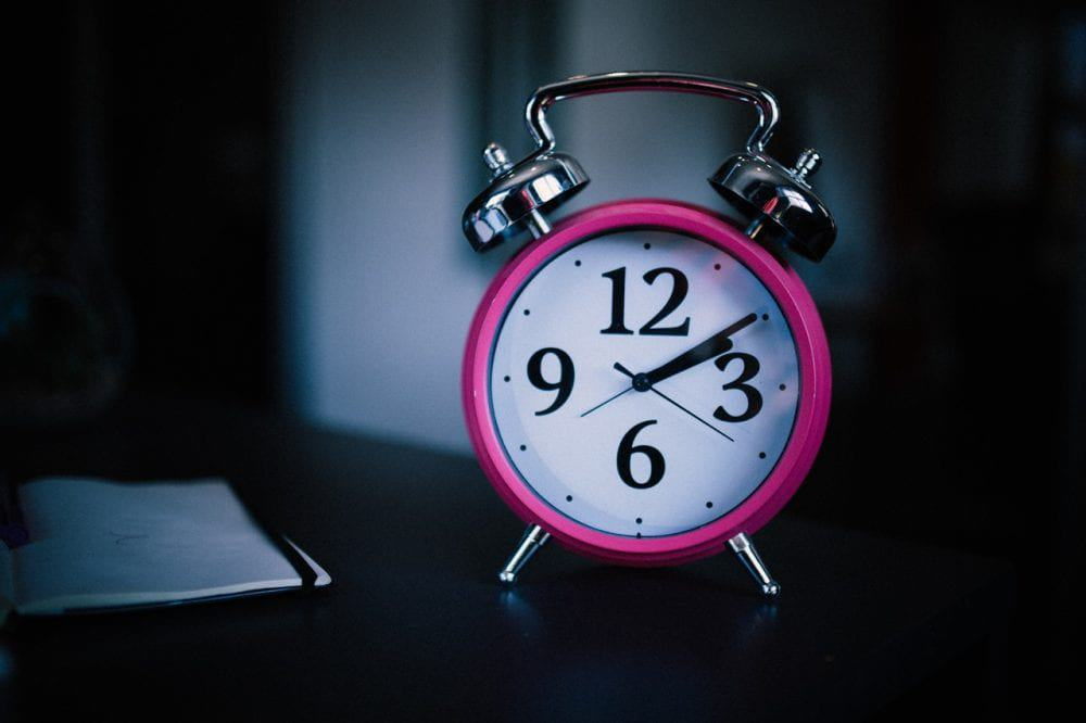 Pink Bell Alarm Clock