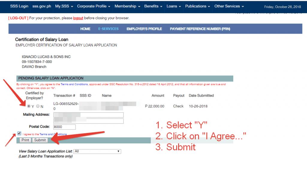 SSS Salary Loan Application Online