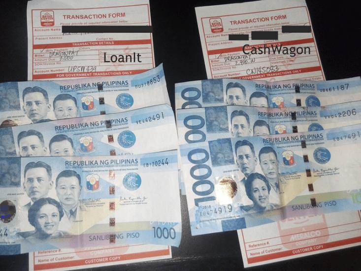 payment at bayad center - loanit and cashwagon